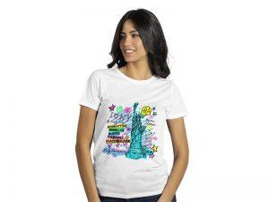 Ženska majica predviđena za sublimaciju