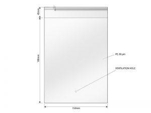Kesa za pakovanje, dimenzije 15 x 18 cm