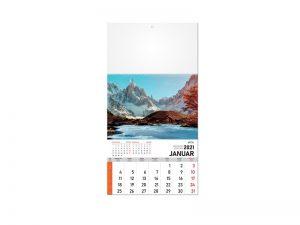 Zidni kalenda: 12 listova, mesečni
